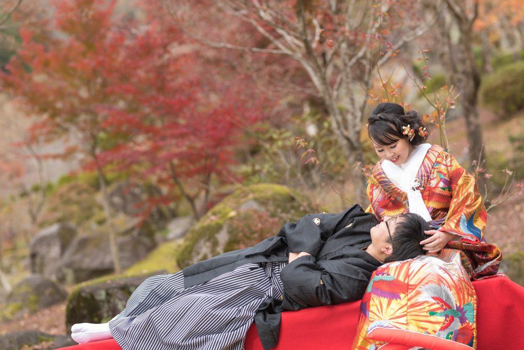 色打掛、紅葉、の前撮りフォト