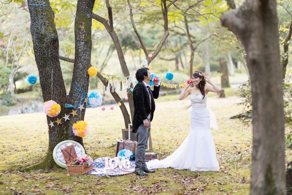 白ドレス、の前撮りフォト
