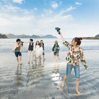 ロケーション「波当津海水浴場」の撮影例